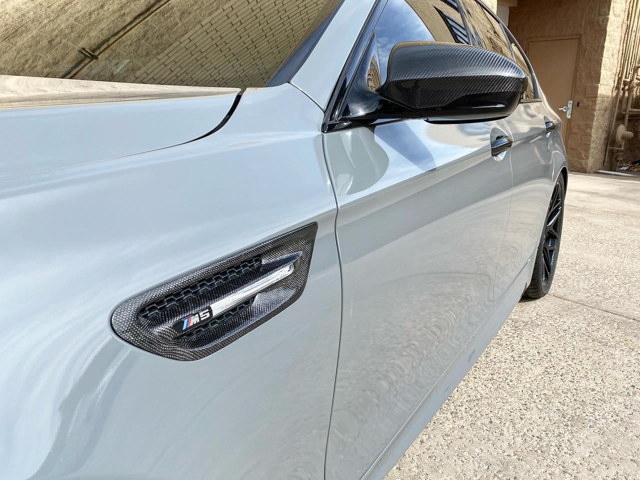 BMW M5 window tinting side view