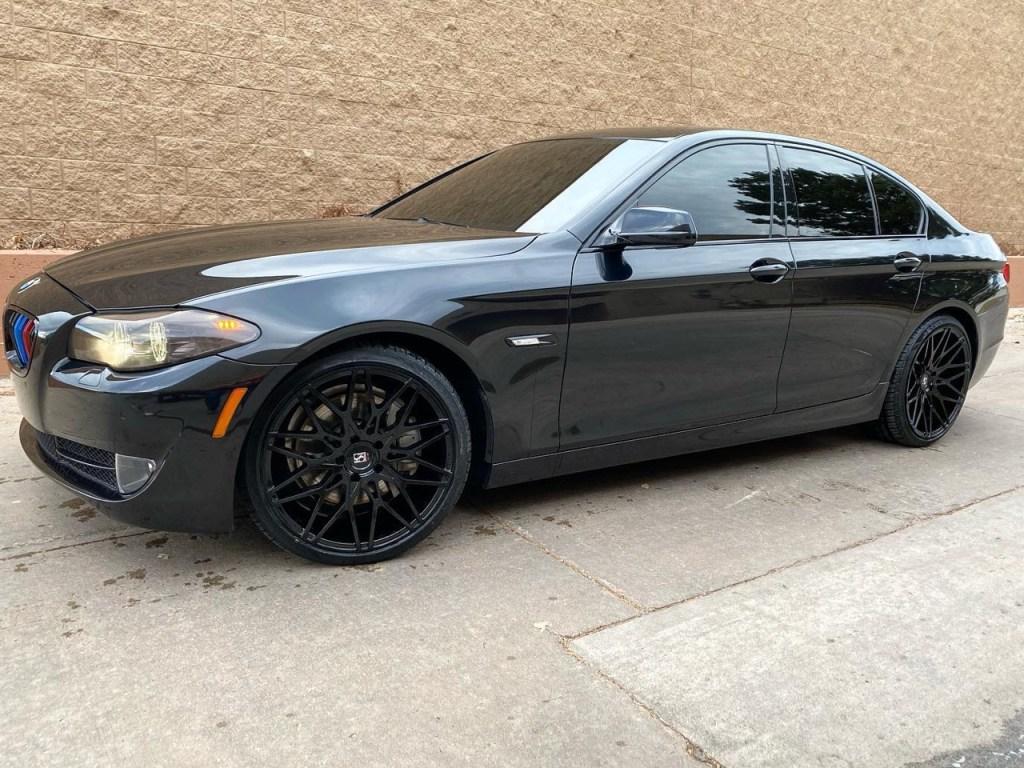 BMW 550i window tinting, BMW 5-series window tint service