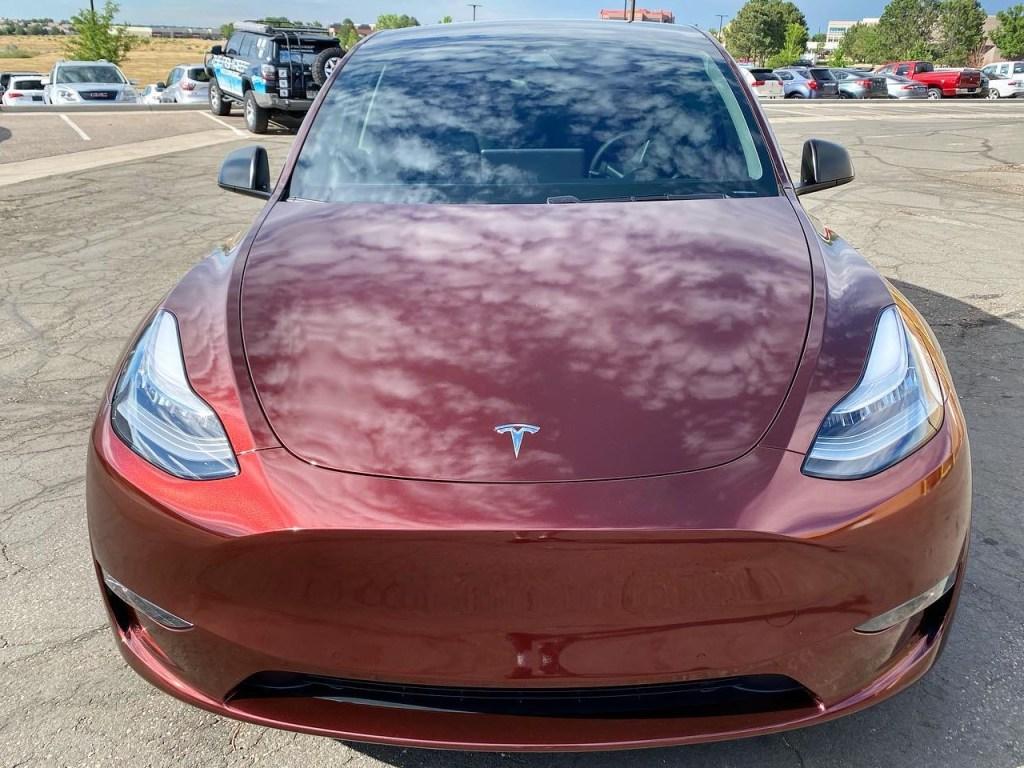 Tesla Model Y ceramic window tinting front view