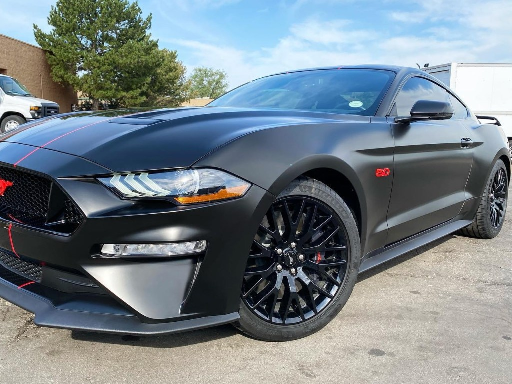 Ford Mustang GT window tinting side view
