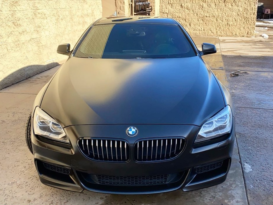 BMW 650i window tint front view