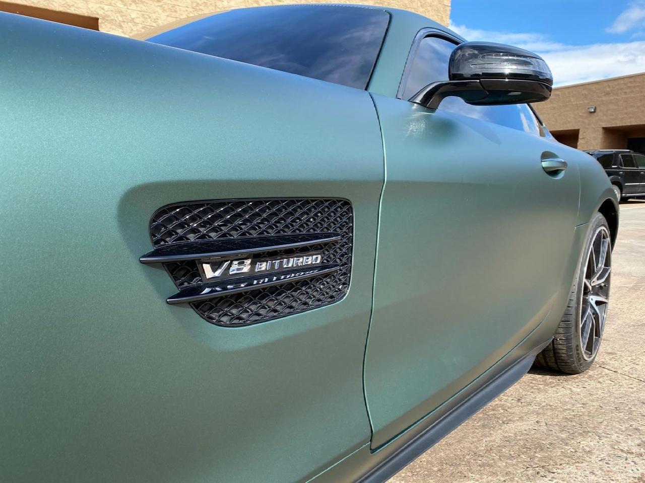 Mercedes AMG GTS Jade Chameleon windshield tint