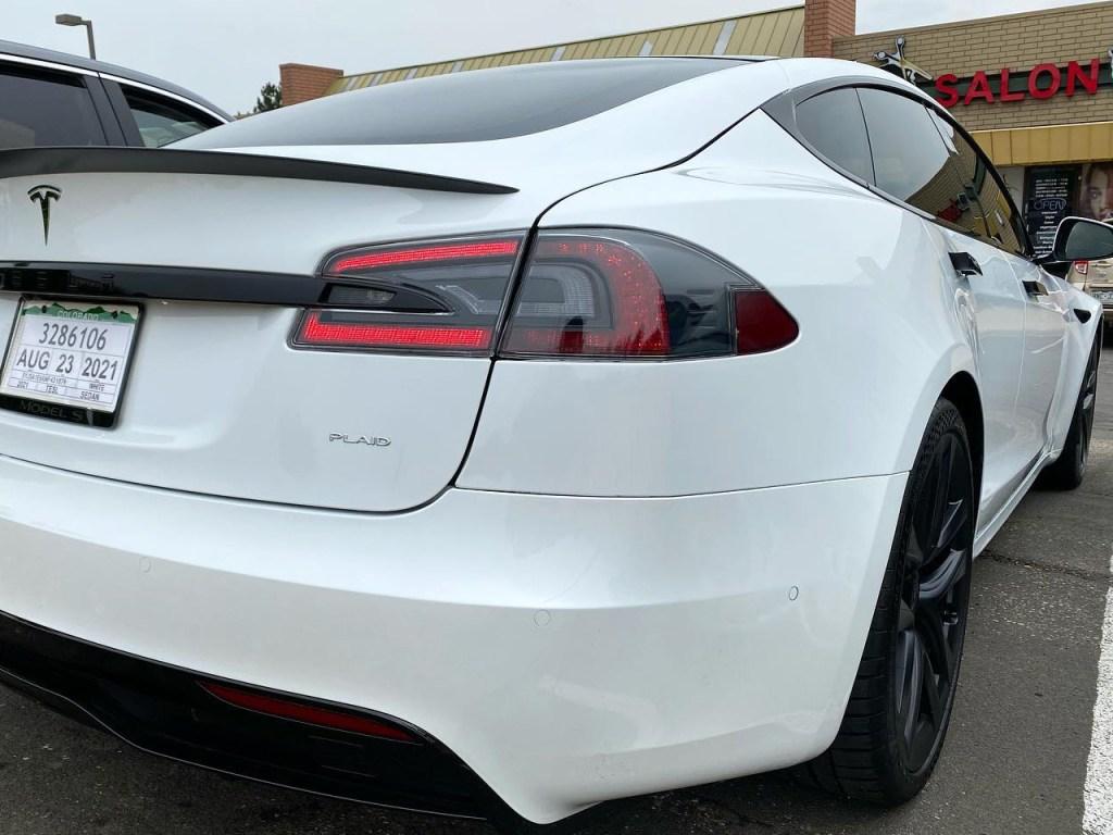 Tesla Model S Plaid tinted windows