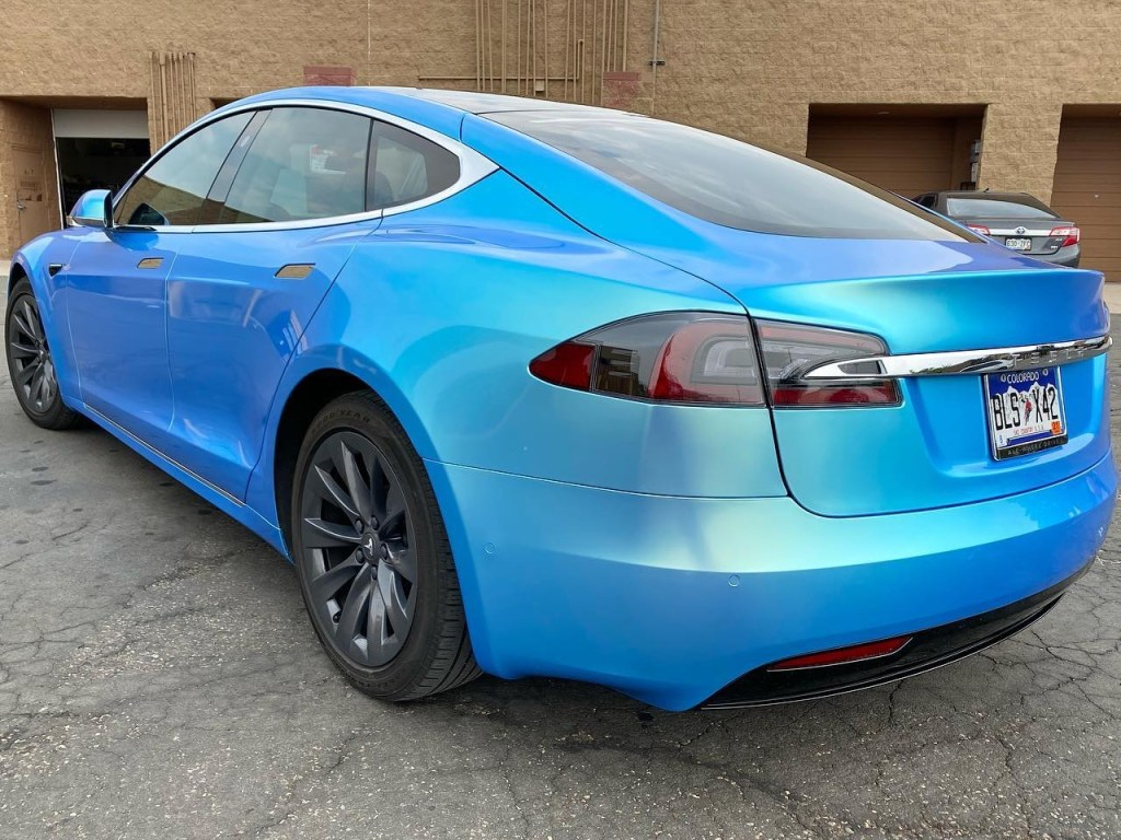 Tesla Model S window tinted windows