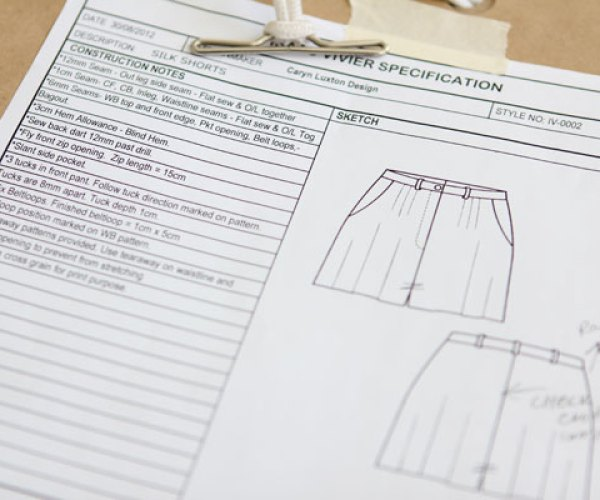 Our services from pattern making to clothing manufacture