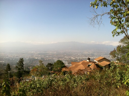 Smoggy, but pretty view of San José, Costa Rica from Escazú