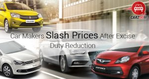 Car Makers Slash Prices After Excise Duty Reduction