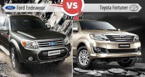 Ford Endeavour Vs Toyota Fortuner