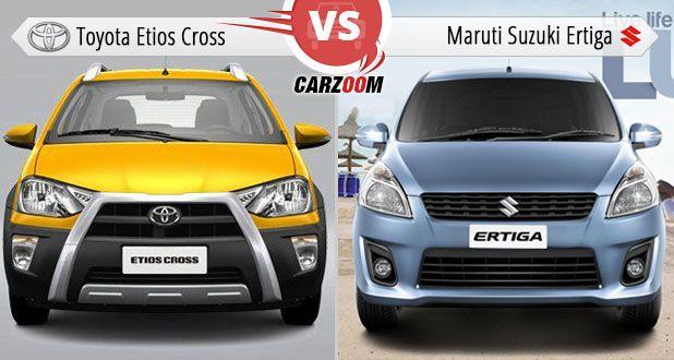 Toyota Etios Cross Vs Maruti Suzuki Ertiga