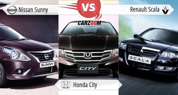 Nissan Sunny vs Honda City vs Renault Scala