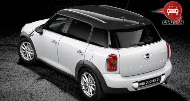 Mini Cooper D Countryman Exterior Back White Color
