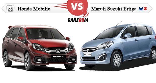 Honda Mobilio vs Maruti Suzuki Ertiga