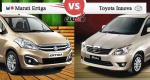 Toyota Innova Facelift vs Maruti Suzuki Ertiga