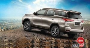 New Toyota Fortuner Back View