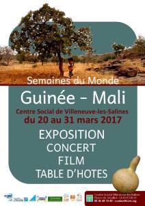 Semaine du monde - Guinée et Mali @ Centre social et culturel de Villeneuve les Salines   La Rochelle   Nouvelle-Aquitaine   France