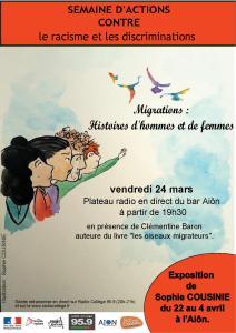 SOIRÉE RENCONTRE - MIGRATIONS : HISTOIRE DE FEMMES ET D'HOMMES @ Aiôn   La Rochelle   Nouvelle-Aquitaine   France