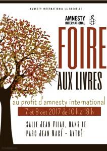 Foire aux livres - Amnesty International @ Salle Jean Vilar dans le parc Jean Macé | Aytré | Nouvelle-Aquitaine | France