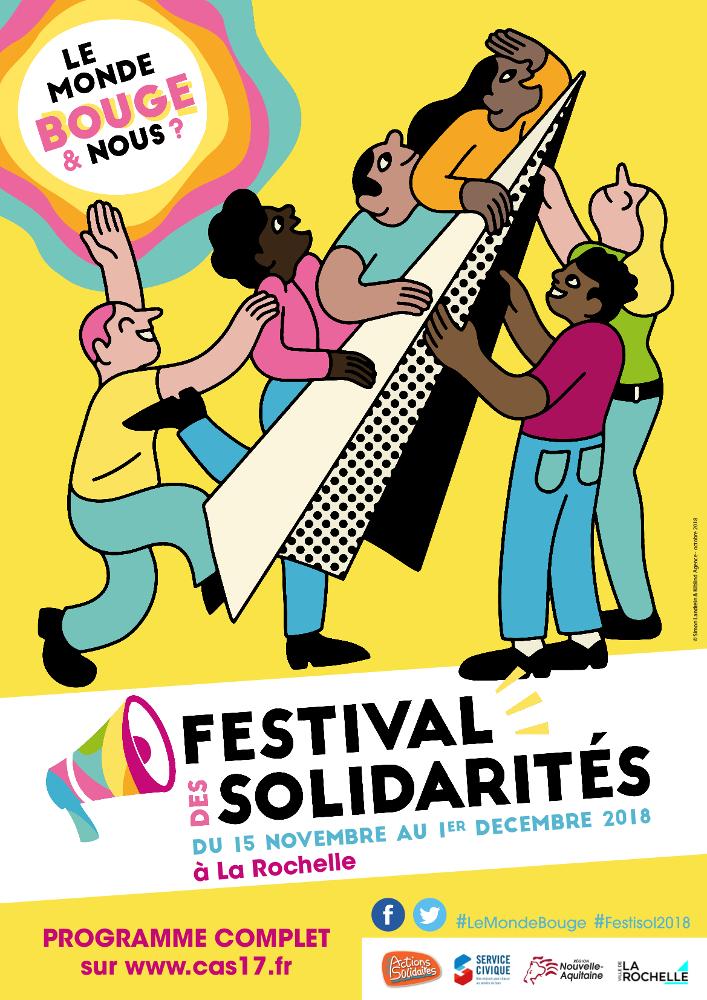 Affiche Festival des solidarités 2018
