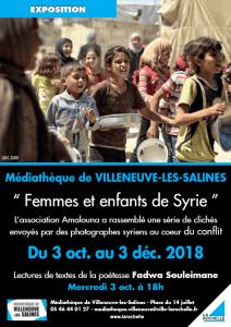 Exposition Femmes et enfants de Syrie @ Médiathèque Villeneuve Les Salines | La Rochelle | Nouvelle-Aquitaine | France