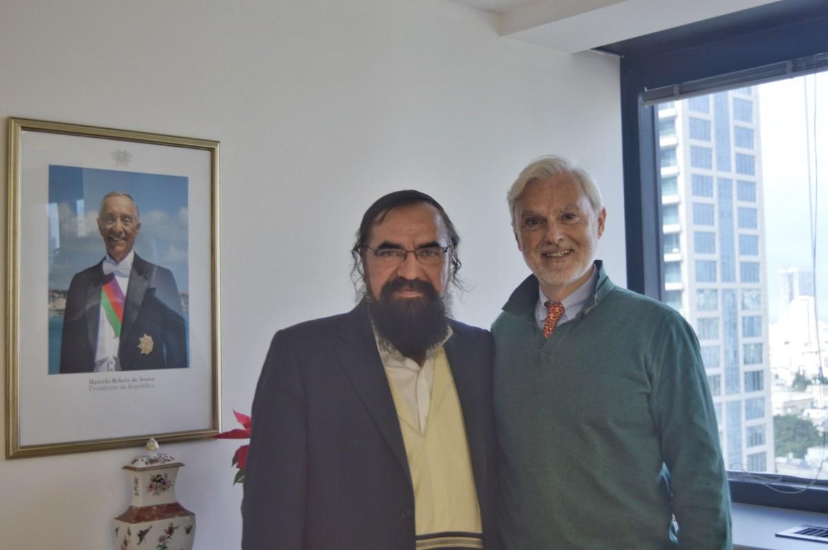 El Rabino Elisha Salas se reune con el nuevo embajador de Portugal en Israel