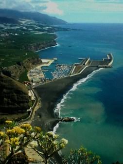 Vue sur Tazacorte, puerto