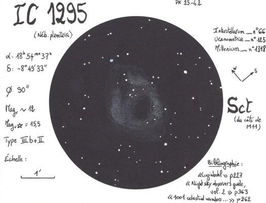 Nébuleuse planétaire IC 1295 dans l'Ecu