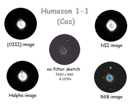 Hu 1-1 (images prises à l'IAC par le Nordic Optical Telescope, observatoire du Roque, Arturo Manchado)