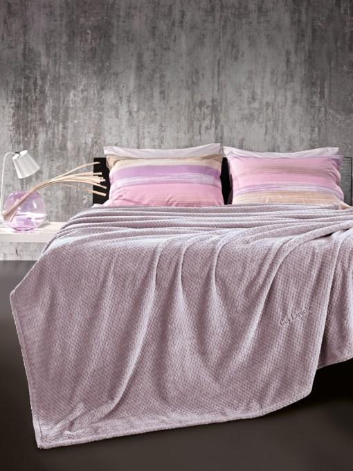 Κουβέρτα Βελούδινη Μονή 160×220 Guy Laroche Rombus Lilac