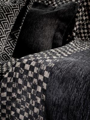 Μαξιλάρι Καναπέ GUY LAROCHE 50x50 Chess Pouat-Piquet Black