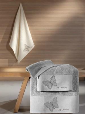 Πετσέτες Σετ 3 Τεμαχίων Guy Laroche Primavera Silver