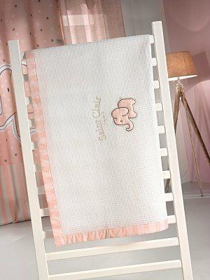 Πικέ Κουβέρτα Κούνιας 110x150 SAINT CLAIR Africa Pink