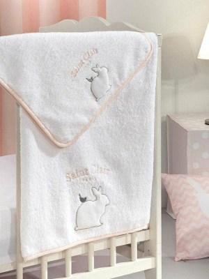 Σετ Βρεφικές Πετσέτες 2 τμχ με Κέντημα SAINT CLAIR Lapin Pink