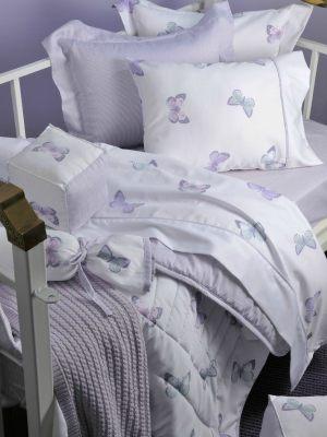 Πάντα Κρεβατόγυρος Sateen DOWN TOWN Garden Lilac BS575