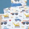 Κουβερλί Παιδικό Σετ 160x220 BOREA Φορτηγά Π-12