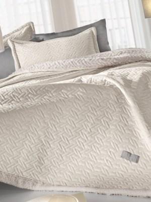 Κουβέρτα Υπέρδιπλη 220x240 Guy Laroche Ristretto Ivory