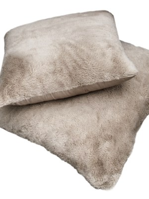 Μαξιλάρι φιγούρας Satin με γούνα Art Fur 45x45 Guy Laroche Crusty Mink