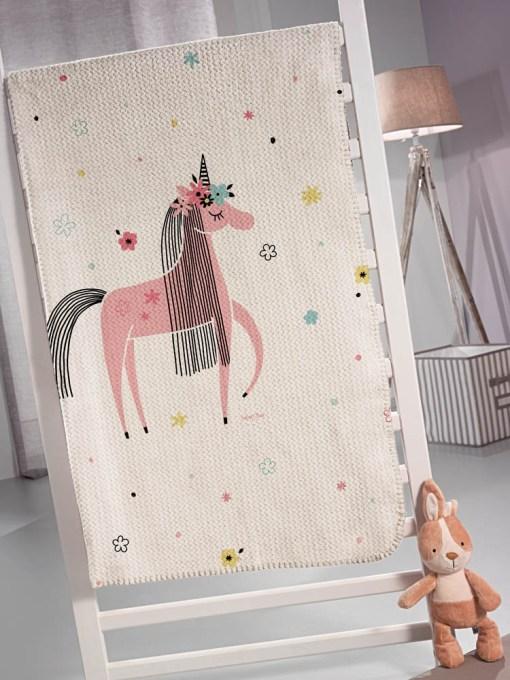 Κουβέρτα παιδική Ultrasoft 160x220 SAINT CLAIR Unicorn