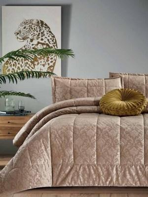 Πάπλωμα Υπέρδιπλο Βελούδινο 220x240 Italian Velvet Natural