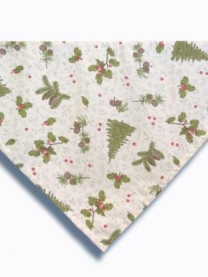 Καρέ Χριστουγεννιάτικο 95x95 Λονέτα Ισπανίας Woodland Beige