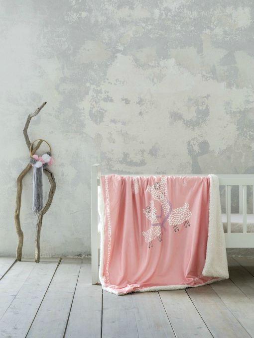 κουβέρτα-λίκνου-80×110-nima-llama-love