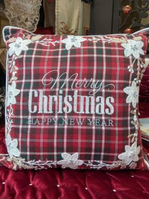 Μαξιλάρι Χριστουγεννιάτικο jacquard 45x45 Merry Christmas 190579