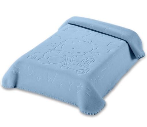 Κουβέρτα Βρεφική Αγκαλιάς 80×110 Belpla Ster 521 Blue