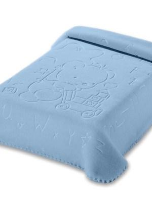 Κουβέρτα Βρεφική Αγκαλιάς 80x110 Belpla Ster 521 Blue