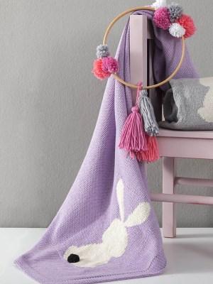 Κουβέρτα Λίκνου 75x110 NIMA Honey Bunny Lilac