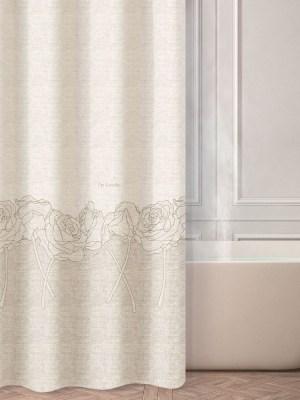 Κουρτίνα Μπάνιου 180x190 GUY LAROCHE Yvonne Lady Sand
