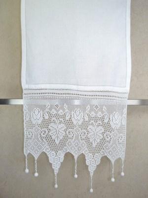 Τραβέρσα Πλεκτή Χειροποίητη με Αζούρ 50x155 DF10202 Λευκό