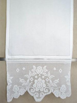 Τραβέρσα Πλεκτή Χειροποίητη με Αζούρ 50x155 DF29388 Λευκό