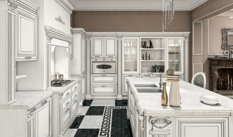 Classic Kitchen Arredo3 Viktoria Model 01 - 03