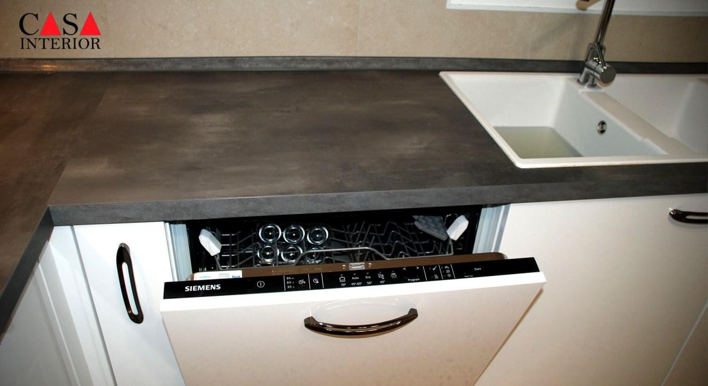 Küchentime Flash Alpine White High Gloss Alfaz del Pi - Dishwasher