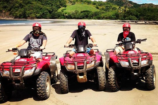 Small quad bike ride on the hot sand!